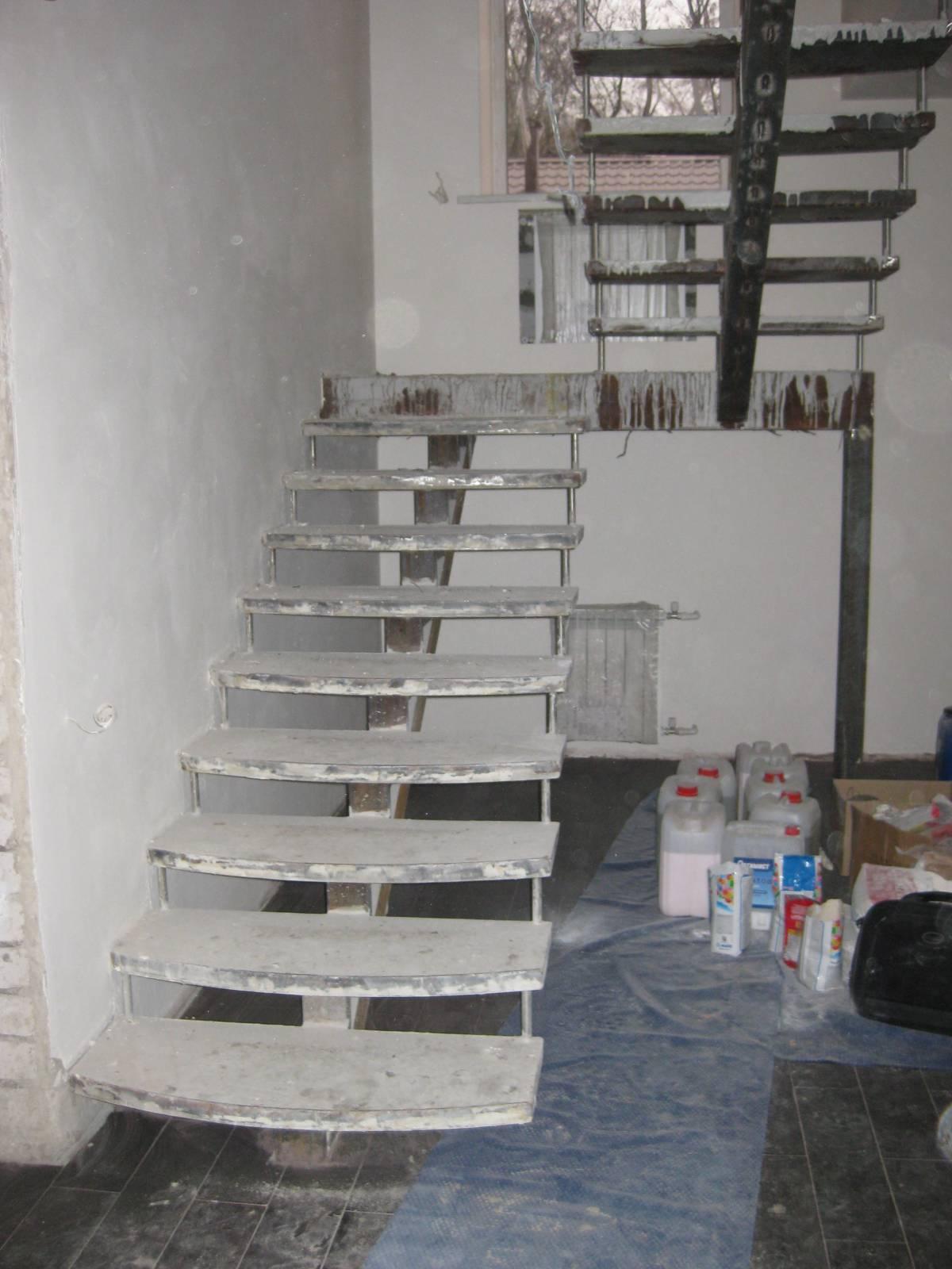 Лестница из металла и дерева своими руками фото